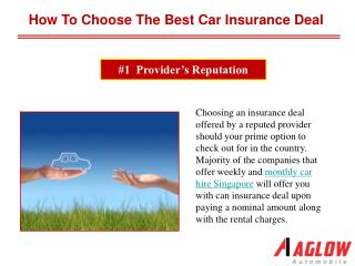 How to choose the best car insurance deal