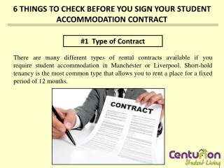 6 THINGS TO CHECK BEFORE YOU SIGN YOUR STUDENT ACCOMMODATION