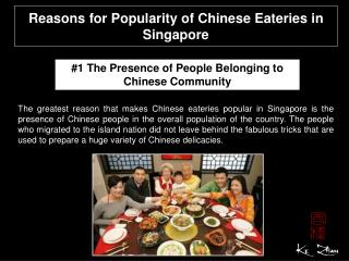 Reasons for popularity of Chinese eateries in Singapore