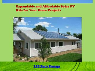 Expandable and Affordable Solar PV Kits for Your Home Projec