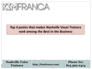 Nashville Vocal Trainers