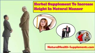 Herbal Supplement To Increase Height In Natural Manner
