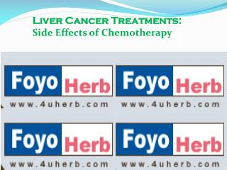 Liver Cancer Treatments: Side Effects of Chemotherapy