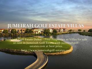 Jumeirah Golf Estate Dubai - Villas for Sale | Properties fo