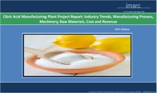 Citric Acid Manufacturing Plant | Cost, Market Trends