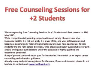 Free Counseling Sessions for  2 Students