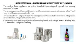 Shopezone.com – Modern home and kitchen appliances