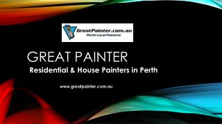 Great Painter - Residential & House Painters in Perth