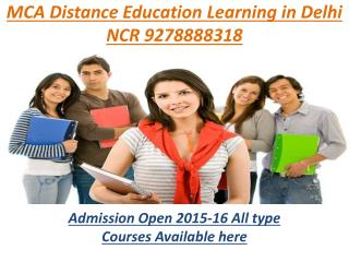 DISTANCE EDUCATION MCA IN NOIDA(9278888318)