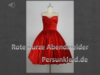 Chic Kurze Rote Abendkleider Online Günstig Sale