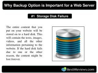 Why backup option is important for a web server