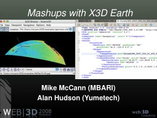 Mashups with X3D Earth