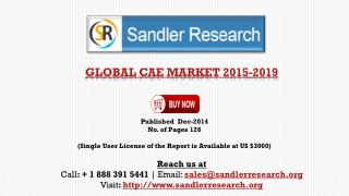 Global Computer Aided Engineering Market Scenario & Growth P