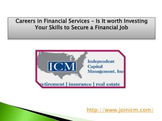 Careers in Financial Services – Is It worth Investing Your S