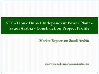 SEC - Tabuk Duba I Independent Power Plant - Saudi Arabia