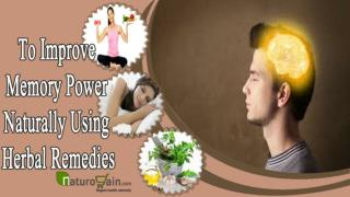 How to Improve Memory Power Naturally Using Herbal Remedy fo