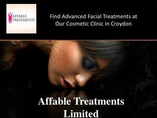 Find Advanced Facial Treatments at Our Cosmetic Clinic