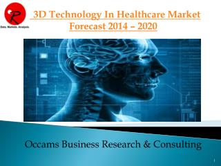 3D Application in Healthcare Market | Forecast 2014-2020