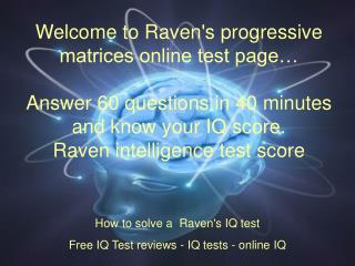 Raven's Progressive MatricesRaven's Progressive Matrices. Fr