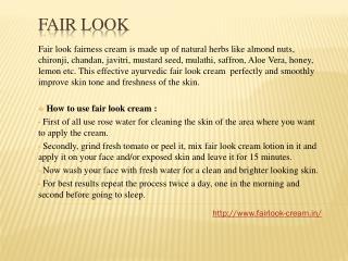 Fair look