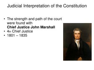 Judicial Interpretation of the Constitution