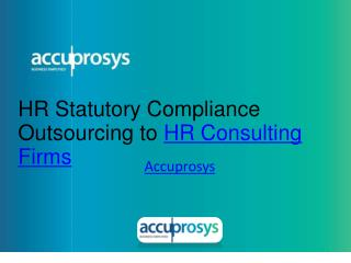 HR Statutory Compliance Outsourcing to HR Consulting Firms