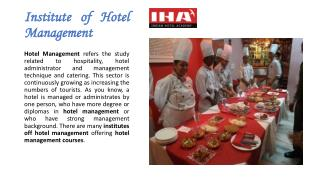 Institute of hotel management