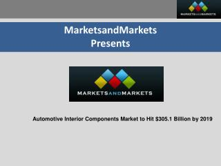 Automotive Interior Components Market