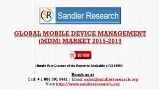 Mobile Device Management Market Forecast for Global Regions