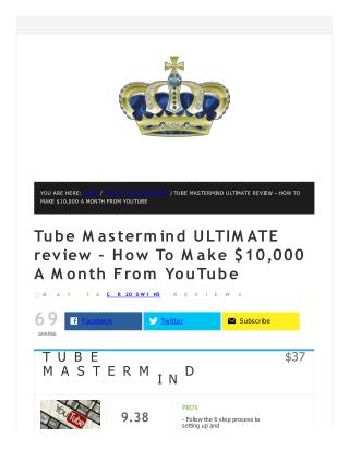 Tube Mastermind detail review and special bonuses included