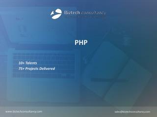 PHP Brochure - Biztech Consultancy