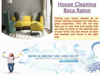 House Cleaning Boca Raton