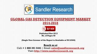 Forecasts & Analysis - Global Gas Detection Equipment Market
