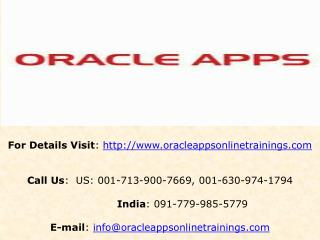 Oracle Apps Financials Online Training and Placement