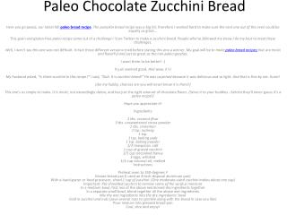 How To Make Paleo Bread Recipe