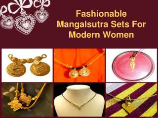 Fashionable Mangalsutra Sets For Modern Women