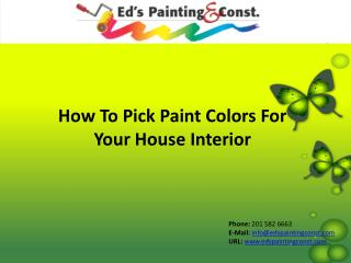 How to pick paint colors for your house interior