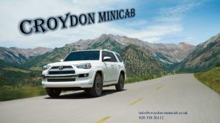 Croydon Taxi Booking | Croydon Minicab | Croydon Taxi