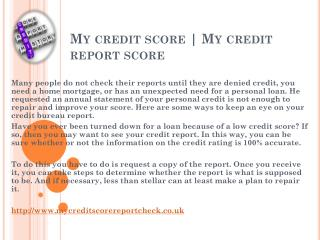 My credit score report