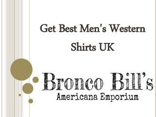 Get Best Men's Western Shirts UK