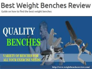 Weight benches review