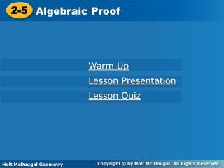 Algebraic Proof