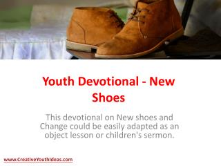 Youth Devotional - New Shoes