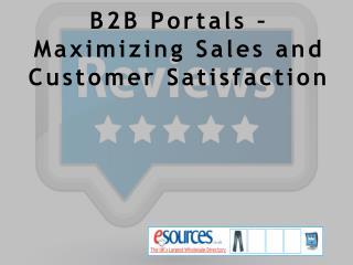 B2B Portals – Maximizing Sales and Customer Satisfaction