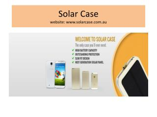 Solar battery case for Mobile at australia