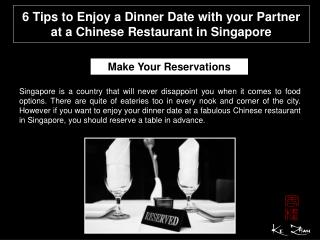 6 Tips to enjoy a dinner date with your partner at a Chinese