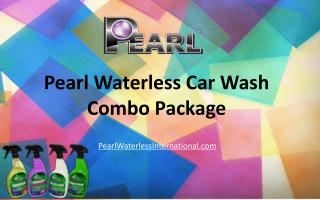 Pearl Waterless Car Wash Combo Package