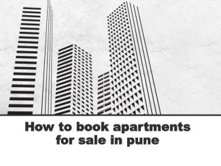 How to book apartments for sale in pune