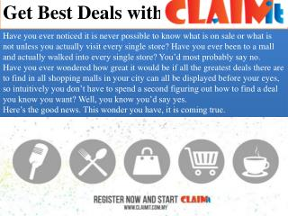 Best Deals with Claimit
