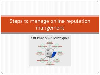 Steps to manage online reputation mangement by vishnu bhagat